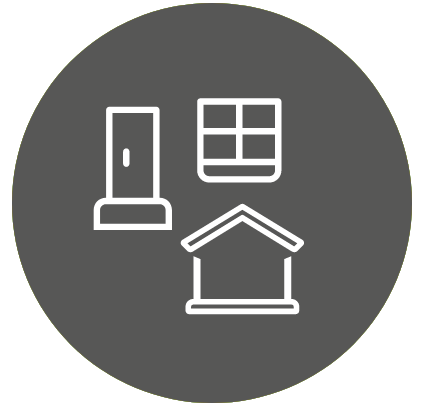 Roofing and windows icon